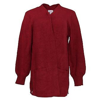 Chiunque maglione donna maglia open-front cardigan rosso A373430