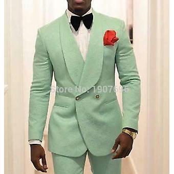 Men Suit Jacket Shawl Lapel Coat Slim Fit Blazer Fashion Clothes