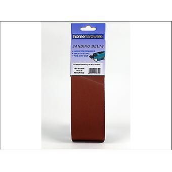 Home DIY (Paint Brushes) Sanding Belt 533 x 75 Assorted x 3 008500