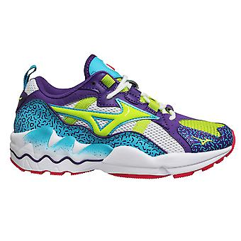 Mizuno Sport Style Wave Rider 1 Purple Lace Up Mens Running Trainers D1GA193337