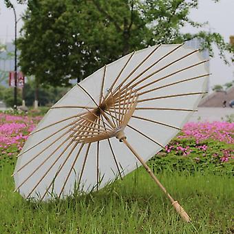 Syntymäpäiväjuhlat, Suihku koristeltu, Riisipaperi, Lasten sateenvarjo (valkoinen)