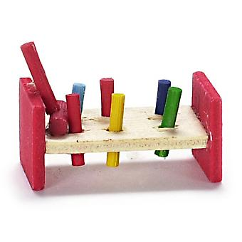 Dolls House Miniature 1:12 Scale Nursery Toy Shop Accessory Pounding Bench