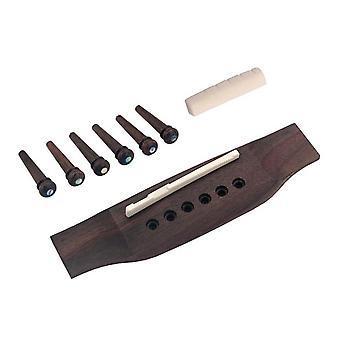 DJ11+12 Guitarra Acústica Ponte Bone Pins Saddle Nut Guitar Peças de substituição de instrumentos musicais