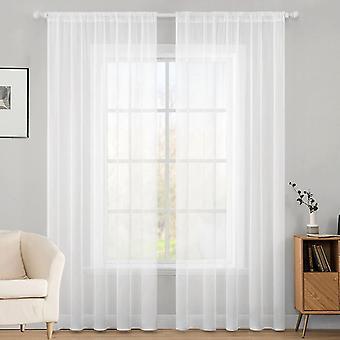 Par de cortina voile lisa 2 paneles Lucy ranura top-net & Voile Sheer Drapes