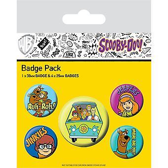 Scooby Doo Mystery Machine Team Abzeichen Set (Packung mit 5)