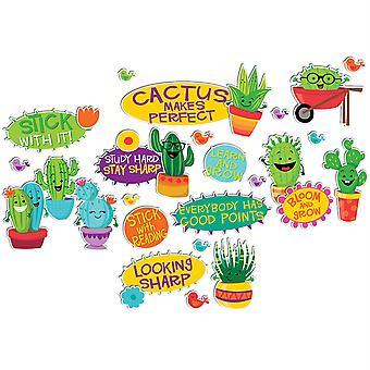 Un conjunto de tableros de mini boletines de palabras alentadoras/positivas de sharp Bunch
