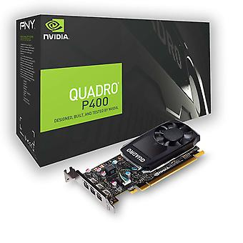 Pny nvidia quadro p400 dvi 3x mini dp 2 gb gddr5 pci express professional graphic card - black,67834