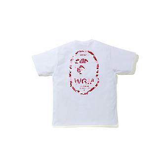 Bape Abc Camo Wgm Ape Head Tee White/Pink - Vêtements