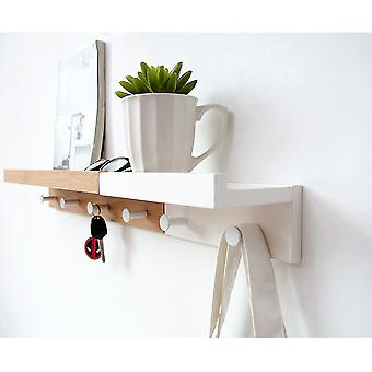 Wooden Entryway Organizer Wall Mounted Standing Shelves