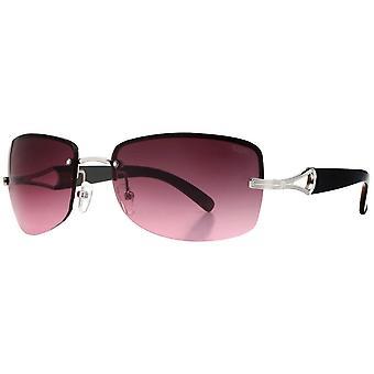Suuna Metal Rimless Sunglasses - Silver/Black/Plum