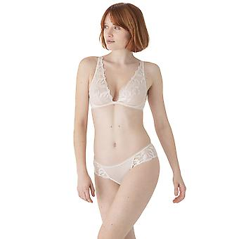 Maison Lejaby Sin 19134-W0003 Women's Milk Floral Embroidered Non-Padded Underwired Triangle Bra