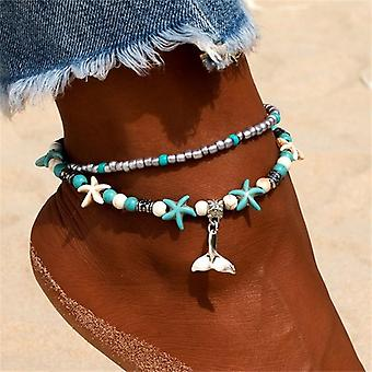 Ankle Chain, Pendant Beaded Summer Beach Foot Jewelry
