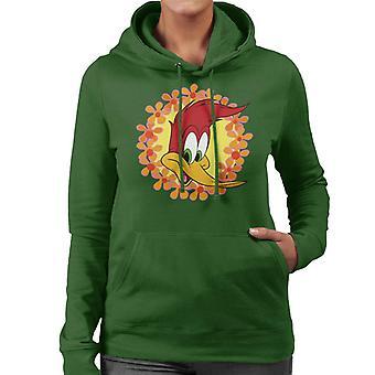 Woody Woodpecker Floral Border Mujeres's Sudadera con capucha
