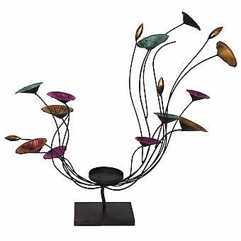 Porte-bougie fleurie de Balancey, multicolore