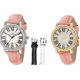 Invicta Wildflower Watch Gift Set  With Interchangeable Leather Bands