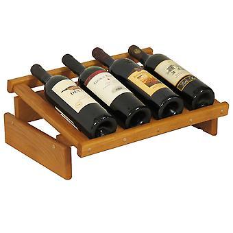 Rovere di legno 4 bottiglia Dakota Wine Display, Rovere medio