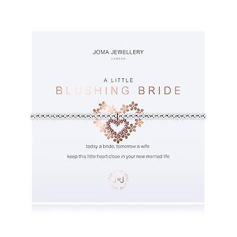 Joma Sieraden Een beetje blozende bruid zilver rose goud 17,5 cm stretch armband 3211