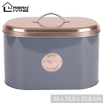 Caixa de lata de pão de cobre Caixa de lata moderna design grande
