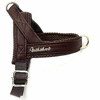 Braunes Leder Ein-Klick-Harness