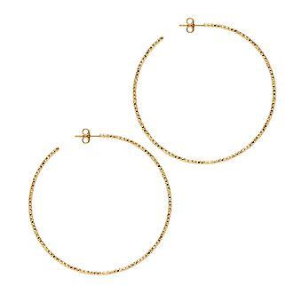 The Hoop Station La SARDEGNA Gold Plated 58 Mm Hoop Earrings H129Y