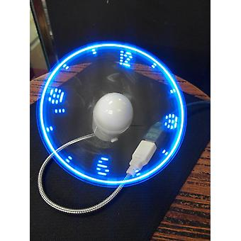 Durable Adjustable Mini Flexible Led Light Usb Fan Time Clock (blue)