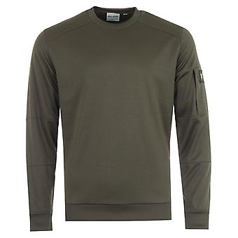 Lyle & Scott Sleeve Pocket Crew Neck Sweatshirt - Trek Green