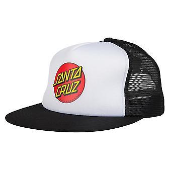 Santa Cruz Classic Dot Mesh Cap - White / Black