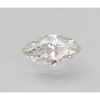 Sertifioitu 0,51 karat E VVS2 markiisi paranneltu luonnollinen löysä timantti 7.68x3.9mm