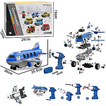Children's detachable remote control airplane toy