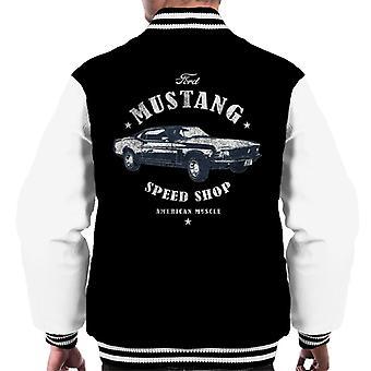 Ford Mustang Speed Shop Men's Varsity Jacket