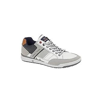 Route 21 Trim Mens Casual Trainers White/grey/blue