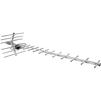 DVB-T2 PNI TV antenna with 19 exterior elements, 75Ohm, Aluminum