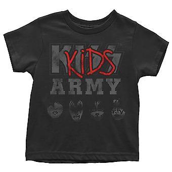 Kiss Taapero T Paita Army Band Logo uusi Virallinen Musta 12 kuukautta - 5 vuotta