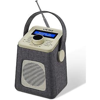 FengChun Mini DAB+ DAB Digitalradio und UKW Radio mit Bluetooth Lautsprecher, Radiowecker und Stoff