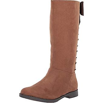 Kids Kenneth Cole Reaction Girls Kennedy Bow Fabric Knee High Zipper Riding Boots