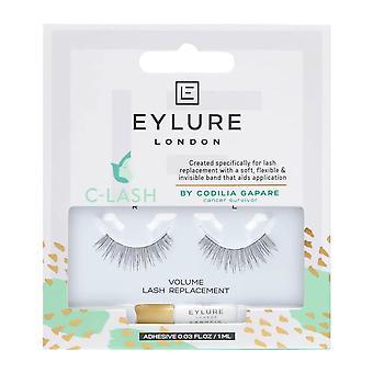 Eylure False Eyelashes - C-lash - Volume Lash Replacement (adhesive Included (1ml)