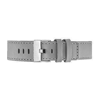 Tayroc grey leather strap silver buckle 22mm