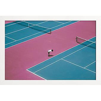 JUNIQE Print - Extra Ordinary van @wubai32 - Tennis Poster in Blauw & Groen