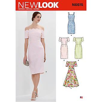 نظرة جديدة نمط الخياطة 6615 يفتقد السيدات اللباس حجم 10-22 A