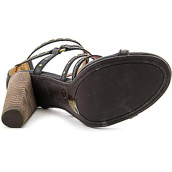 Lucky Brand Womens ORANDI Leather Open Toe Casual Ankle Strap Sandals