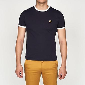 Gabicci Ringer T-Shirt - Navy