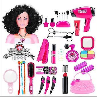 Style2人形の髪型は女の子のメイクアップおもちゃセット48pcs dt5509をドレスアップ
