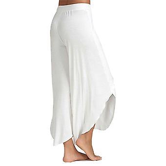 Super Soft bumbac Spandex Harem Stil Yoga Pilates Pantaloni, Alb - S