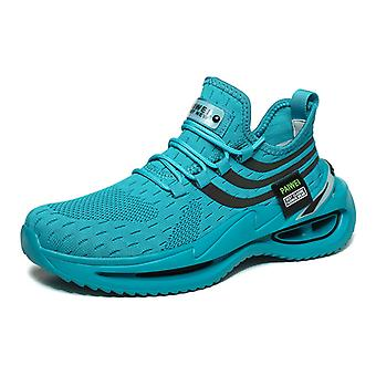 Platform low-top luminous flying knit trendy shoes 1EA15 Green