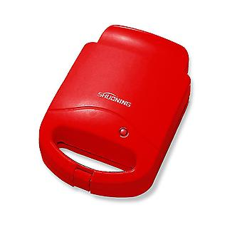 Red 21.5x15.3x10.5cm home sandwich maker quick breakfast machine safe portable easy to operate homi4417