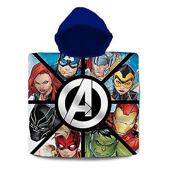 Poncho-pyyhe hupulla Avengers Cotton (60 x 120 cm)