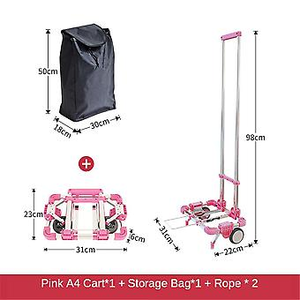 A4 Paper Size Large Luggage Cart With Wheels Folding Hand