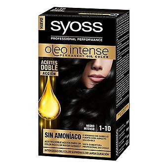 Permanent färgämne Olio Intense Syoss Nº 1,10 Black Intense