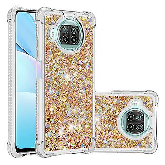 Case For Xiaomi Mi 10t Lite Bumper Cover Sparkly Glitter Bling Flowing Liquid - Or