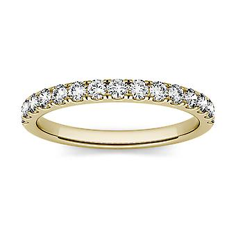 Forever One 1.9mm Round Moissanite Wedding Band, 0.38cttw DEW